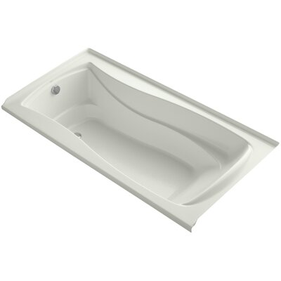 Mariposa Bubblemassage 72 x 36 Soaking Bathtub Finish: Dune, Drain Location: Left
