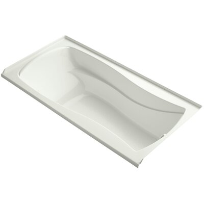 Mariposa Bubblemassage 72 x 36 Soaking Bathtub Finish: Dune, Drain Location: Right