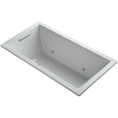 Underscore 60 x 32 Air Bathtub Finish: Ice Grey