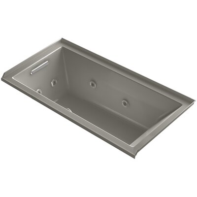 Underscore 60 x 30 Whirlpool Bathtub Finish: Cashmere, Drain Location: Left