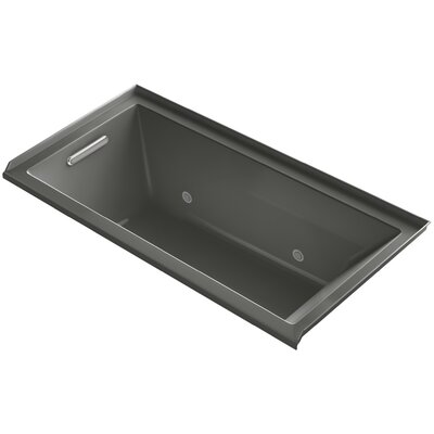 Underscore Alcove Vibracoustic 60 x 30 Soaking Bathtub Finish: Thunder Grey