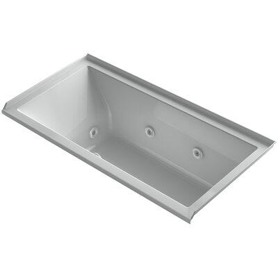 Underscore 60 x 30 Whirlpool Bathtub Finish: Ice Grey, Drain Location: Right