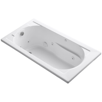 Devonshire Drop-In Whirlpool Reversible Drain and Bask� Heated Surface Finish: White
