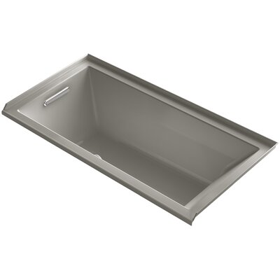 Underscore 60 x 30 Air Bathtub Finish: Cashmere, Drain Location: Left
