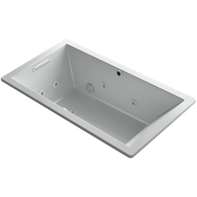 Underscore 66 x 36 Air / Whirlpool Bathtub Finish: Ice Grey