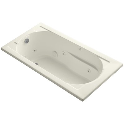Devonshire Drop-In Whirlpool Reversible Drain and Bask� Heated Surface Finish: Biscuit