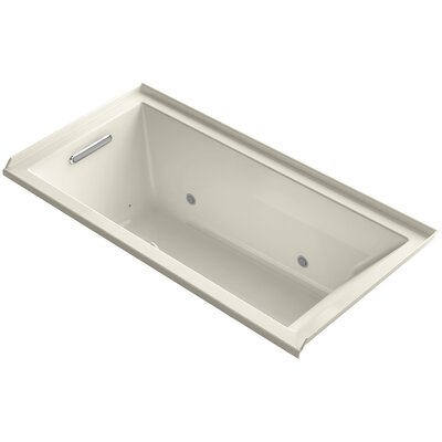 Underscore 60 x 30 Air Bathtub Finish: Almond, Drain Location: Left