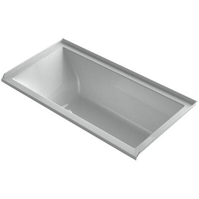 Underscore 60 x 30 Air Bathtub Finish: Ice Grey, Drain Location: Right