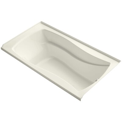 Mariposa 66 x 36 Soaking Bathtub Finish: Biscuit, Drain Location: Right