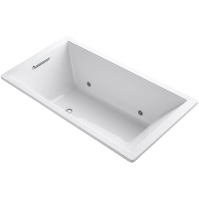 Underscore Vibracoustic 66 x 36 Whirpool Bathtub Finish: White