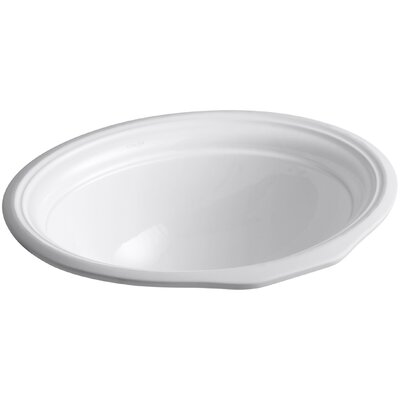 Devonshire Ceramic Oval Undermount Bathroom Sink with Overflow Sink Finish: White