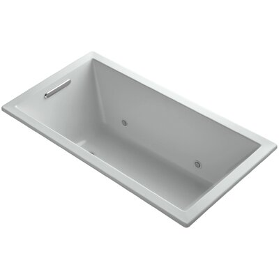Underscore Vibracoustic 60 x 32 Whirpool Bathtub Finish: Ice Grey