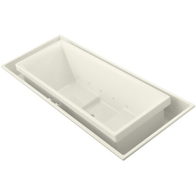 Sok 104 x 41 Drop-In Effervescence Bath with Center Drain Finish: Biscuit