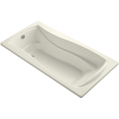 Mariposa Vibracoustic 72 x 36 Soaking Bathtub Finish: Biscuit