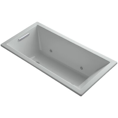 Underscore Vibracoustic 60 x 30 Whirpool Bathtub Finish: Ice Grey