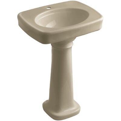 Bancroft� Ceramic 24 Pedestal Bathroom Sink Finish: Mexican Sand, Faucet Hole Style: Single