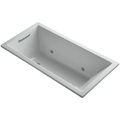 Underscore 60 x 30 Air Bathtub Finish: Ice Grey