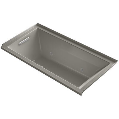 Underscore 60 x 30 Air Bathtub Finish: Sandbar, Drain Location: Right