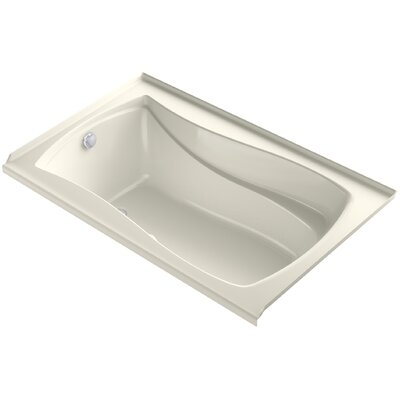Mariposa Bubblemassage 60 x 36 Soaking Bathtub Finish: Biscuit, Drain Location: Left