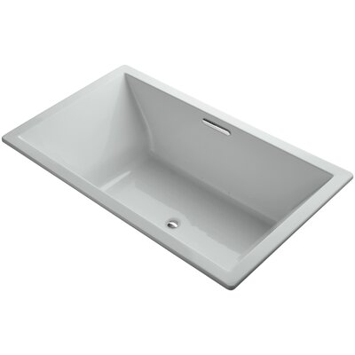 Underscore Vibracoustic 72 x 42 Soaking Bathtub Finish: Ice Grey