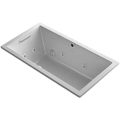 Underscore 60 x 32 Air / Whirlpool Bathtub Finish: Ice Grey