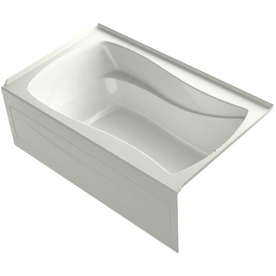 Mariposa 60 x 36 Alcove BubbleMassage Air Bath with Integral Apron Finish: Dune, Drain Location: Right