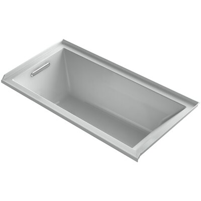 Underscore 60 x 30 Soaking Bathtub Finish: Biscuit, Drain Location: Right