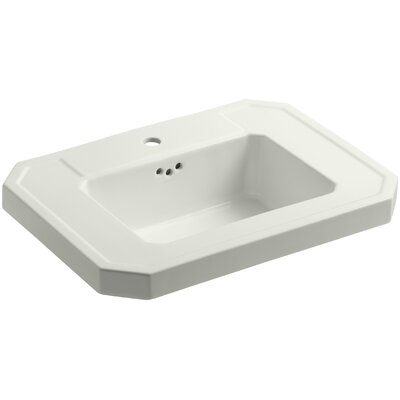 Kathryn 27 Pedestal Bathroom Sink Finish: Dune, Faucet Hole Style: 8 Widespread