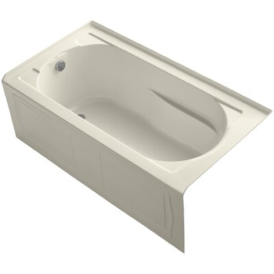 Devonshire 60 x 32 Soaking Bathtub Finish: Almond, Drain Location: Left
