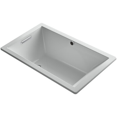 Underscore 60 x 36 Soaking Bathtub Finish: Ice Grey