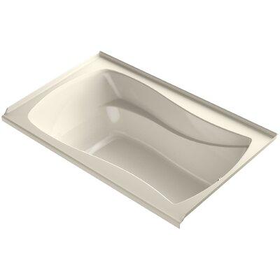 Mariposa Alcove Bubblemassage 60 x 36 Soaking Bathtub Finish: Almond, Drain Location: Right