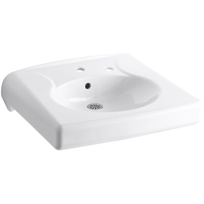 Brenham Ceramic 22 Wall Mount Bathroom Sink with Overflow Finish: White