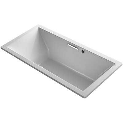 Underscore 72 x 36 Air Bathtub Finish: Ice Grey