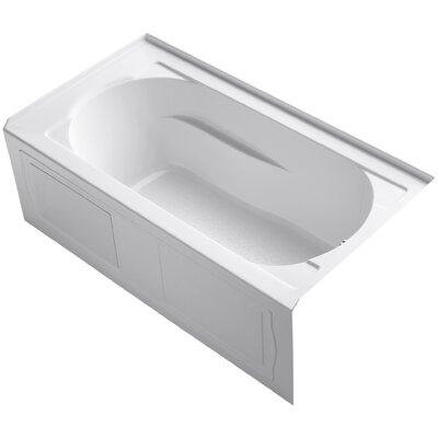 Devonshire 60 x 32 Soaking Bathtub Finish: White, Drain Location: Right