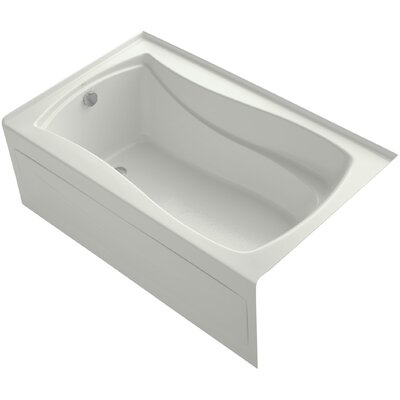 Mariposa Alcove Vibracoustic 60 x 36 Soaking Bathtub Finish: Dune, Drain Location: Left