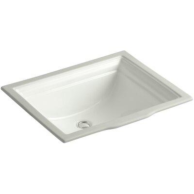 Memoirs Rectangular Undermount Bathroom Sink with Overflow Sink Finish: Dune