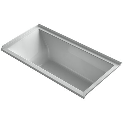 Underscore 60 x 30 Soaking Bathtub Finish: Ice Grey, Drain Location: Right