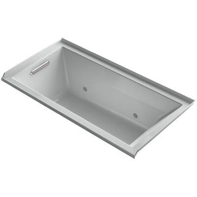 Underscore Alcove Vibracoustic 60 x 30 Whirpool Bathtub Finish: Ice Grey