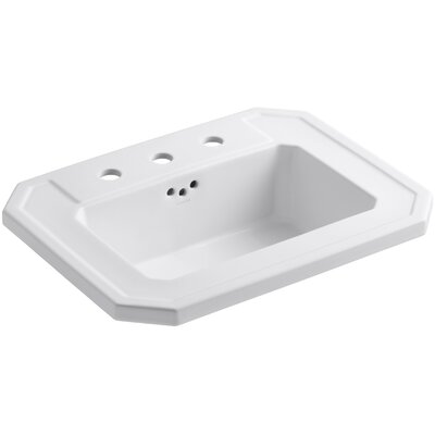 Kathryn� Ceramic Rectangular Drop-In Bathroom Sink with Overflow Finish: White