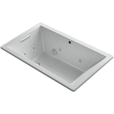 Underscore 60 x 36 Air / Whirlpool Bathtub Finish: Ice Grey