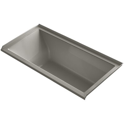 Underscore 60 x 30 Soaking Bathtub Finish: Cashmere, Drain Location: Right