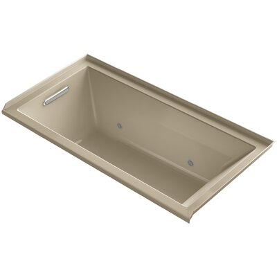 Underscore Alcove Vibracoustic 60 x 30 Whirpool Bathtub Finish: Mexican Sand
