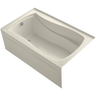 Mariposa Alcove 60 x 36 Soaking Bathtub Finish: Almond, Drain Location: Left