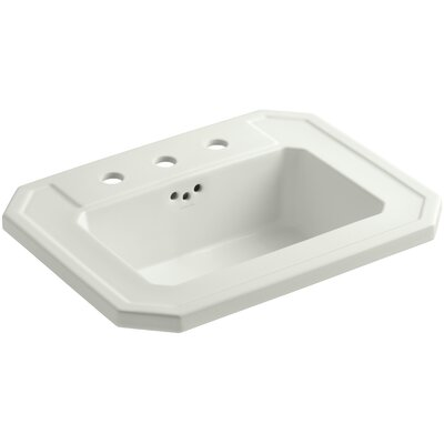 Kathryn� Ceramic Rectangular Drop-In Bathroom Sink with Overflow Finish: Dune