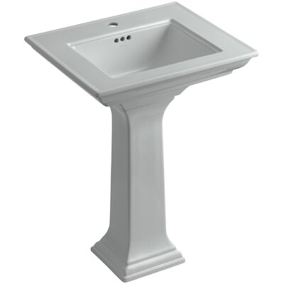 Memoirs� Ceramic 25 Pedestal Bathroom Sink with Overflow Finish: Ice Grey, Faucet Hole Style: Single