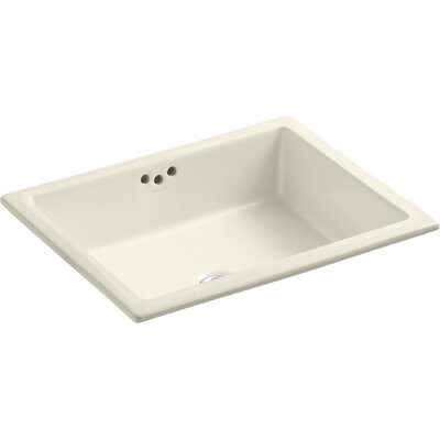 Kathryn Rectangular Undermount Bathroom Sink with Overflow Finish: Almond, Glazed Underside: No
