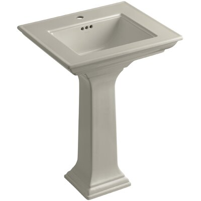 Memoirs� Ceramic 25 Pedestal Bathroom Sink with Overflow Finish: Sandbar, Faucet Hole Style: Single