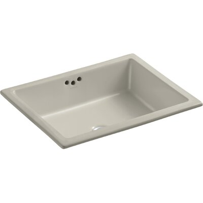 Kathryn Rectangular Undermount Bathroom Sink with Overflow Finish: Sandbar, Glazed Underside: No