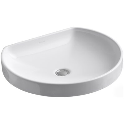 Water Cove Ceramic Specialty Drop-In Bathroom Sink Sink Finish: White