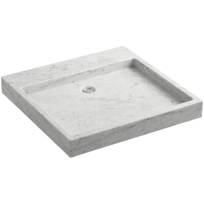 Purist� Stone 8 Wall Mount Bathroom Sink Finish: White Carrara Marble